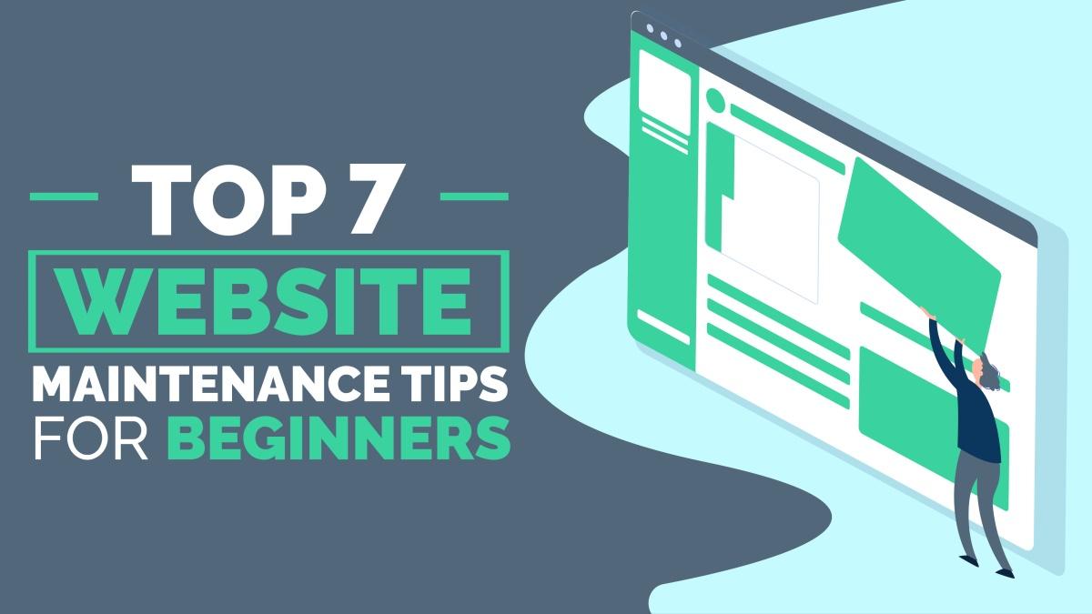 top website maintenance tips beginners
